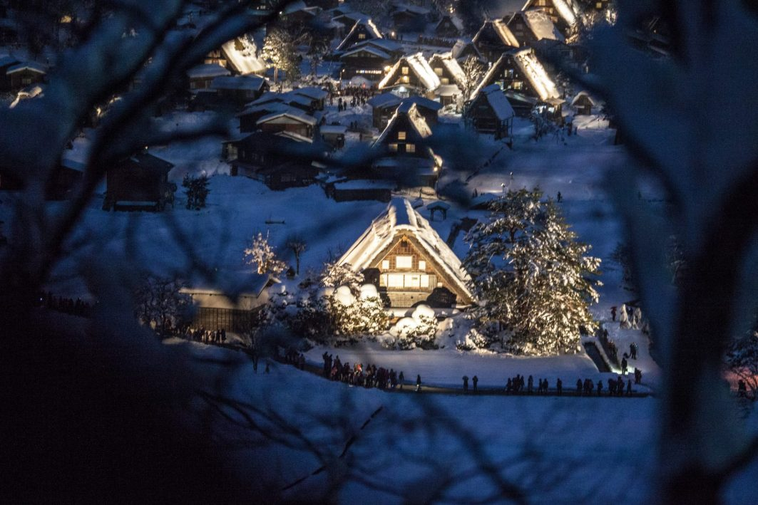Shirakawa Go Winter Illumination