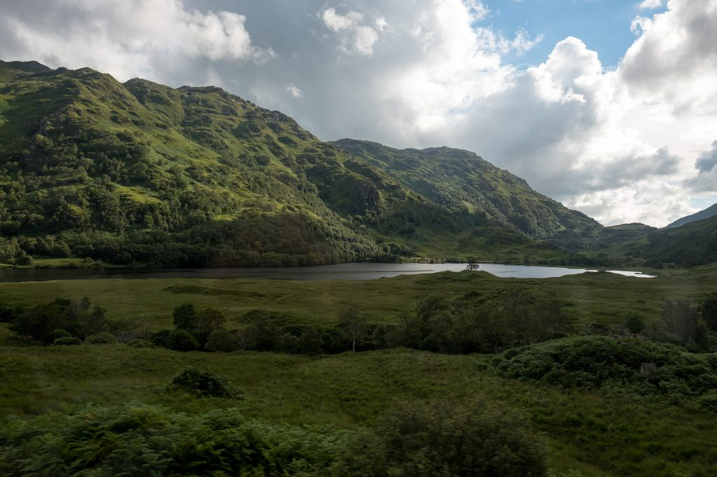 Train Trip in Scottish Highlands