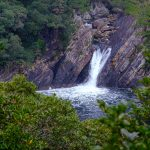Tokori Waterfall in Yakushima, the only waterfall in Japan meeting the ocean