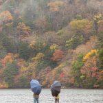 Fall in Japan, by lake Yunoko in Nikko