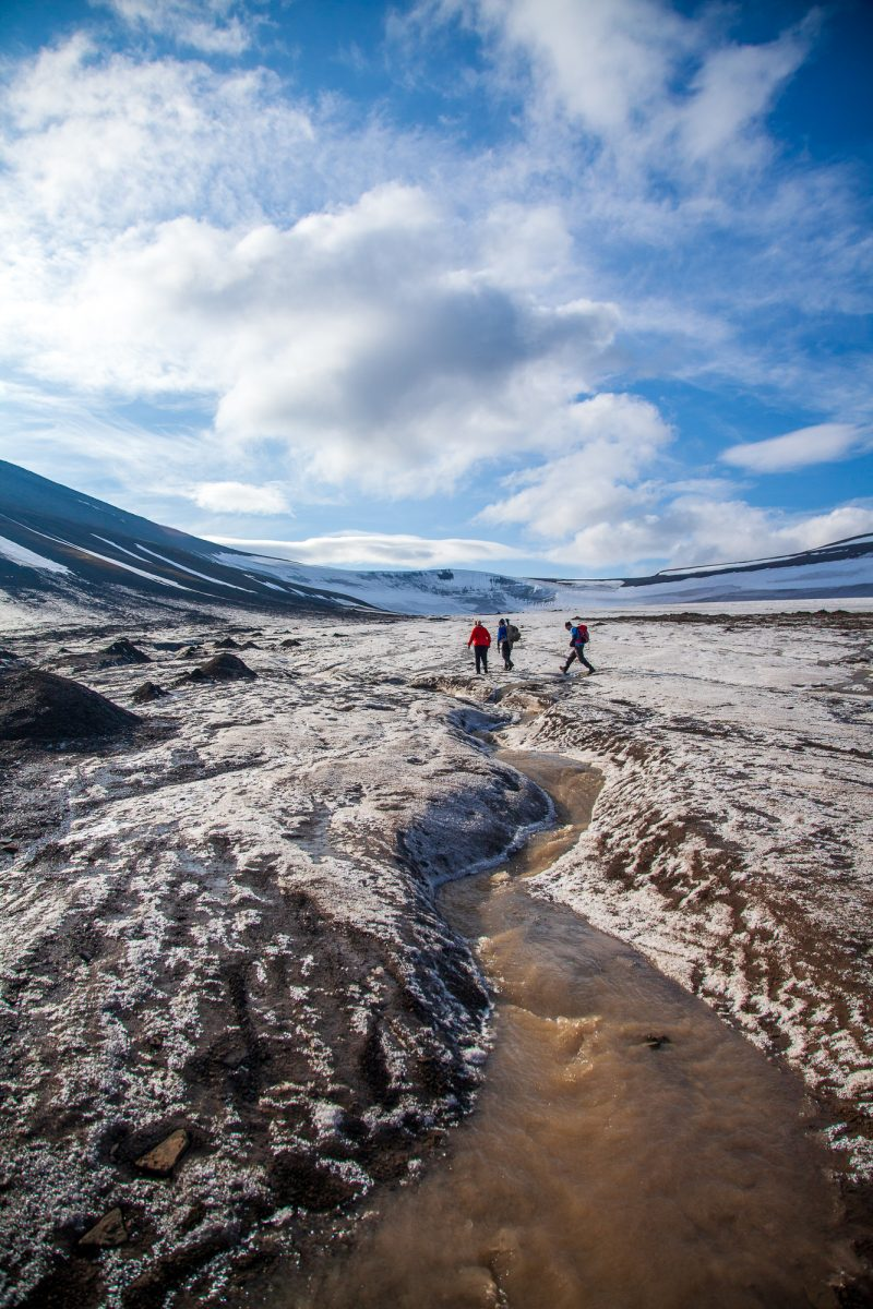 Hiking in Svalbard